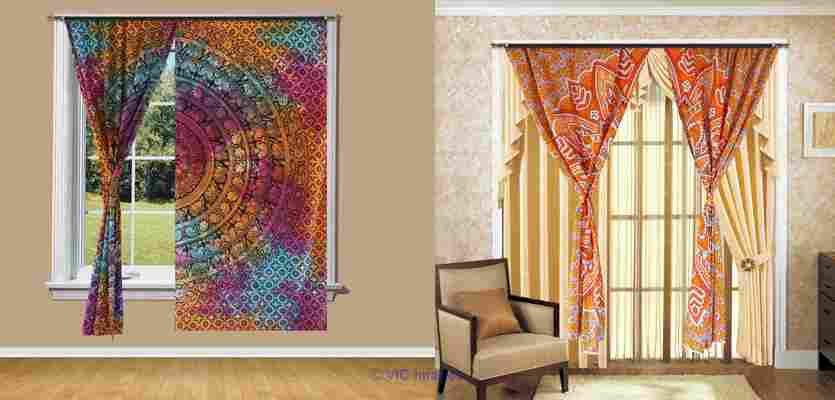 Magnificent range of mandala  curtains from Handicrunch calgary