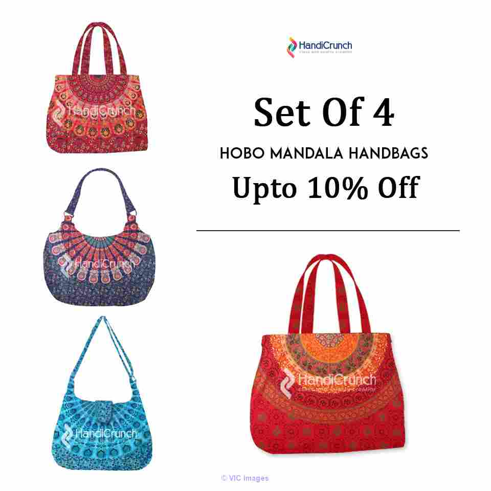 Assorted range of mandala and kantha bags-from Handicrunch calgary