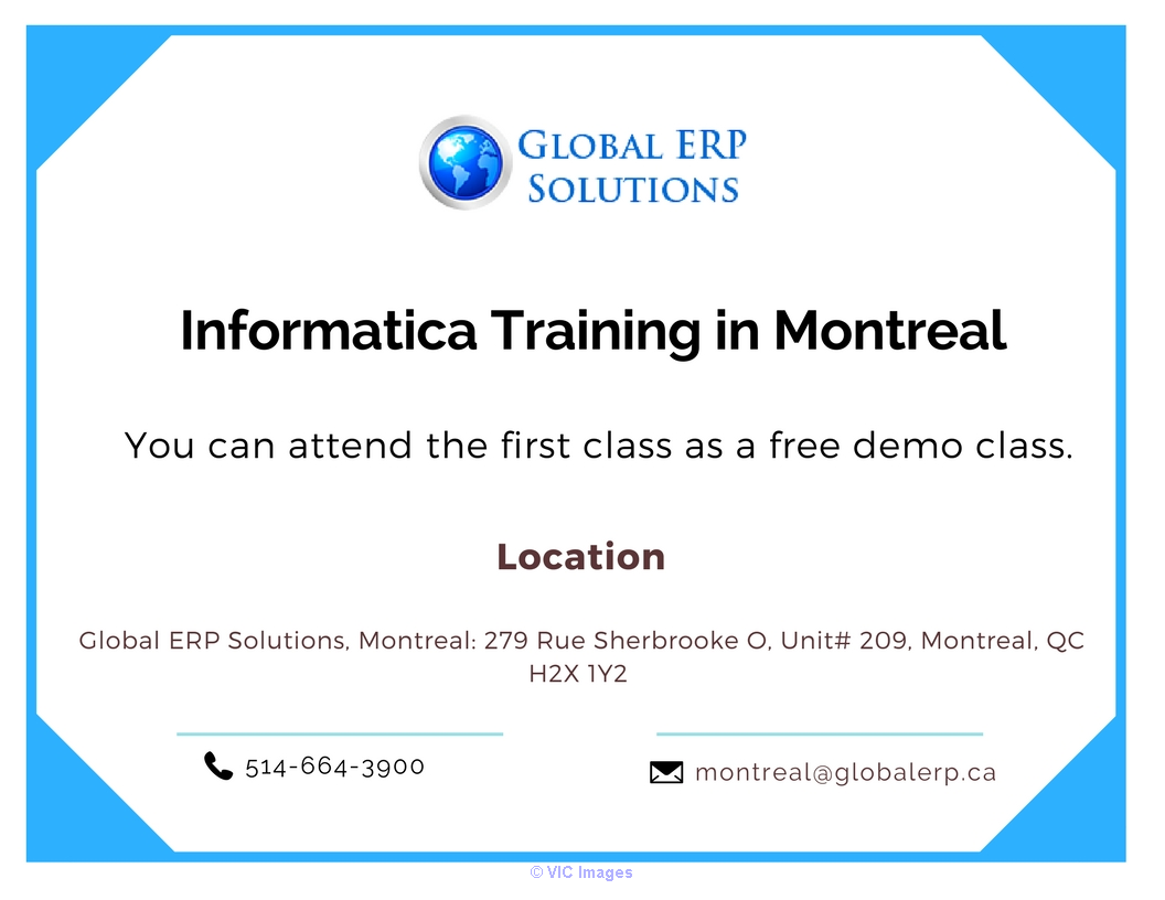 Informatica Training in Montreal Calgary, Alberta, Canada Annonces Classées