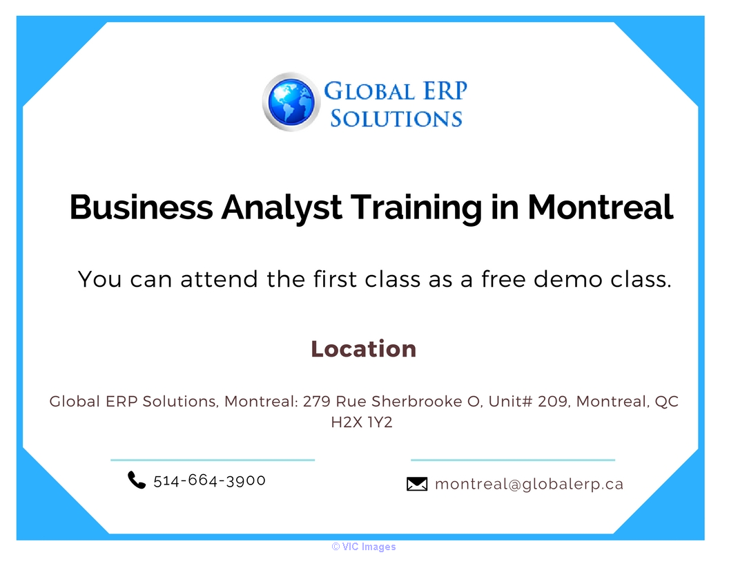 Business Analyst (BA) Training in Montreal Calgary, Alberta, Canada Annonces Classées