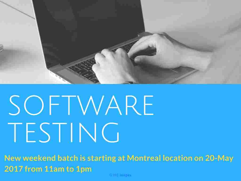 Software Testing/QA Training and Placements in Montreal calgary