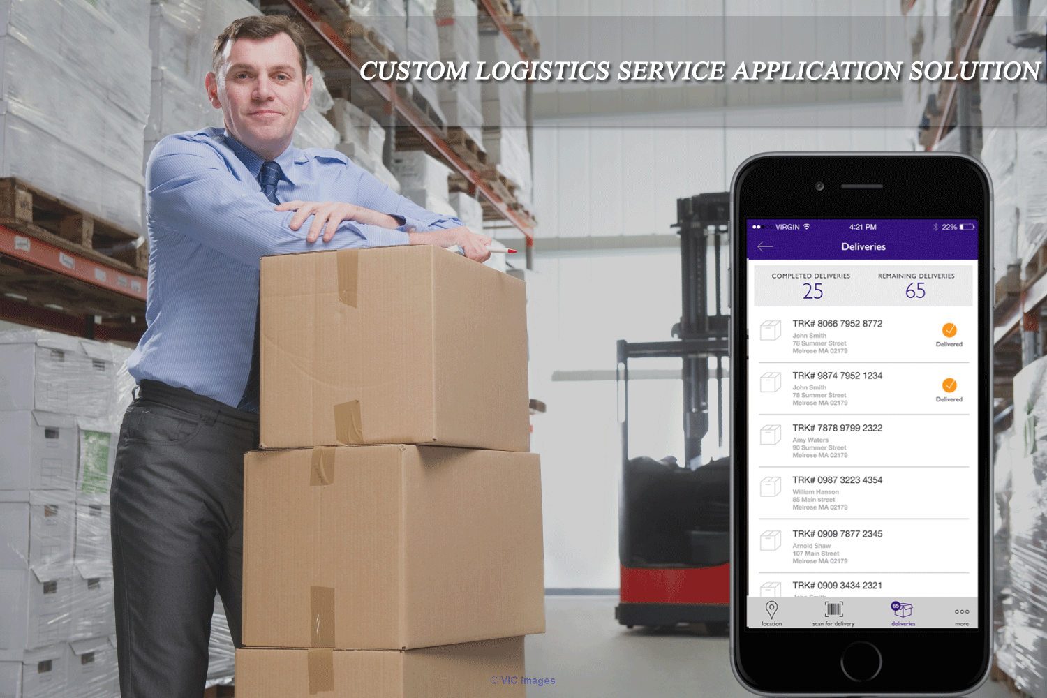 Custom logistics mobile application solution End to End - Bacancy Tech calgary