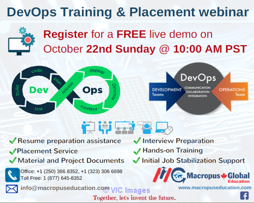 FREE live webinar on DevOps Training & Placement Service. calgary