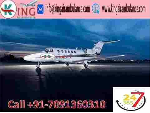 Emergency Medical Air Ambulance from Guwahati to Delhi-King Air calgary