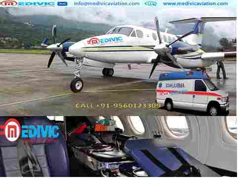 Economic Budget Medivic Aviation Air Ambulance Chennai with Doctor calgary