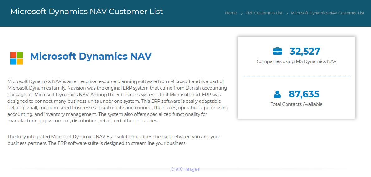 Buy recently updated Microsoft Dynamics NAV customers list Calgary, Alberta, Canada Classifieds