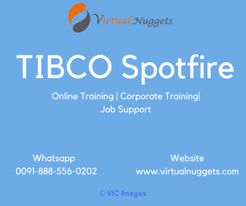 TIBCO Spotfire Online Training Institute calgary