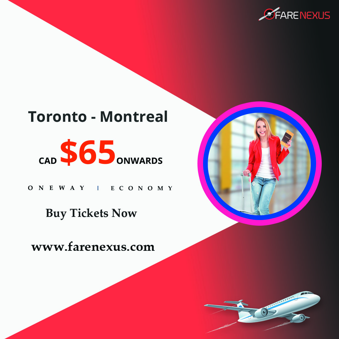 One way cheap Air Tickets Toronto - Montreal from CAD $65 Calgary, Alberta, Canada Annonces Classées