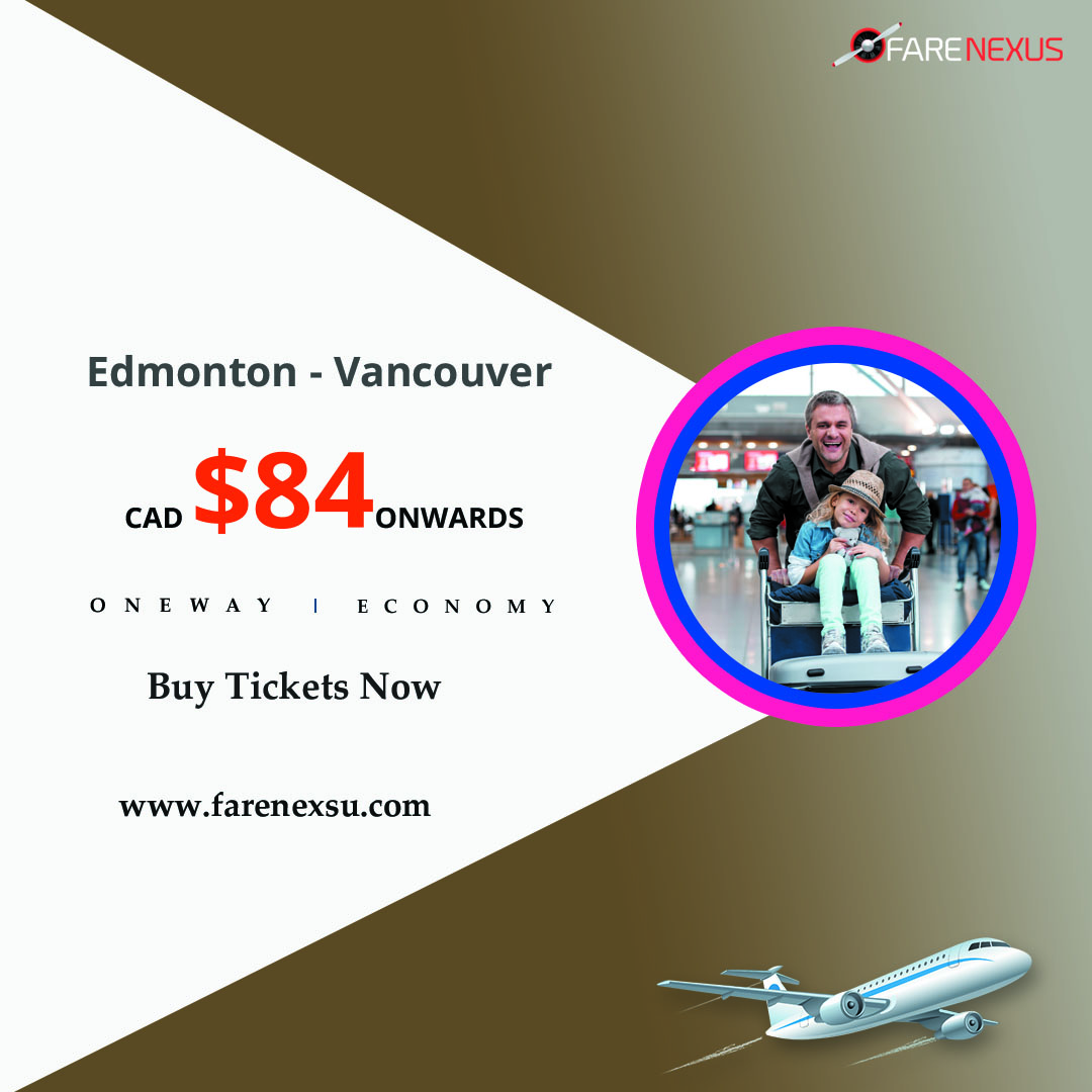 One way cheap Air Tickets Edmonton - Vancouver from CAD $84 Calgary, Alberta, Canada Annonces Classées