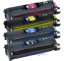 HP 1500 Laser Toner Cartridge Set Black Cyan Yellow Magenta High Yie calgary