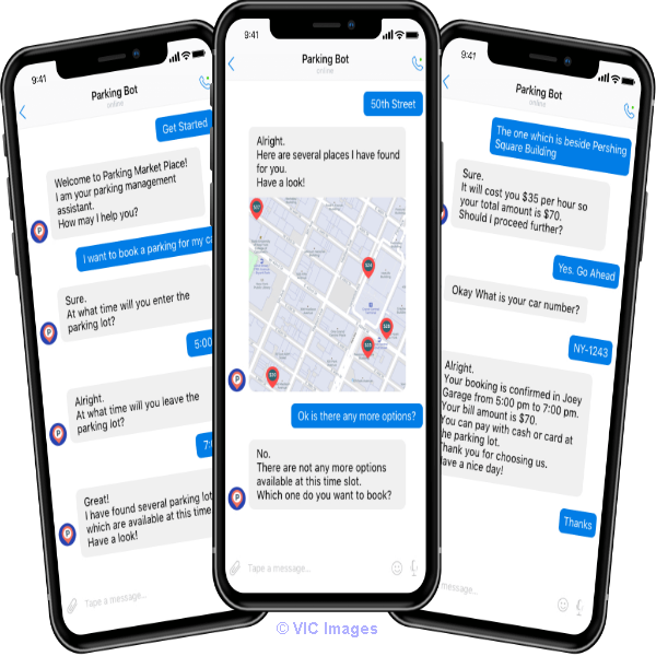 Chatbot System for Parking Space Booking Marketplace Calgary, Alberta, Canada Classifieds