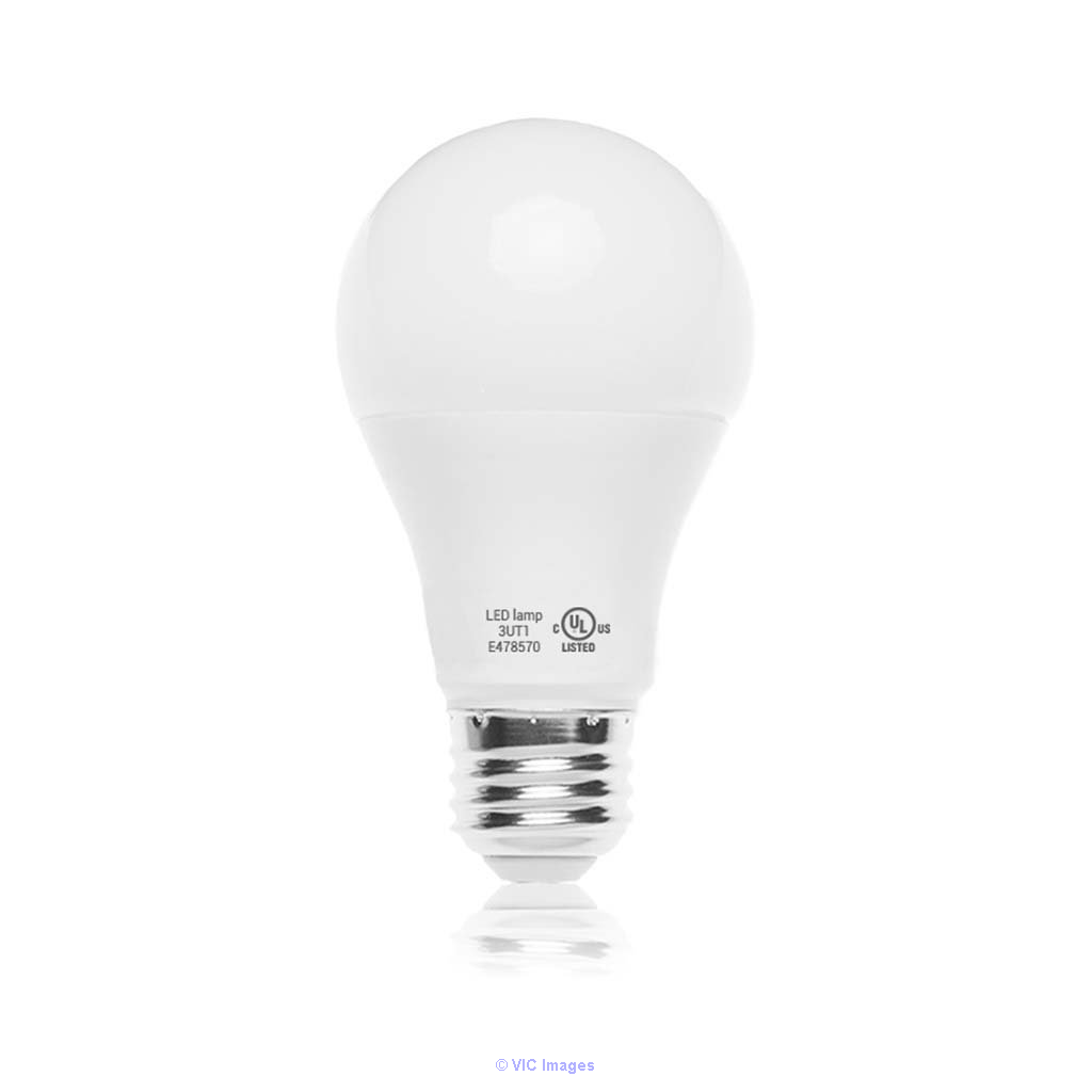 A19 Dimmable LED Light Bulb, 9.8W, 6500K (Cool White), 800 Lumens, (E2 calgary