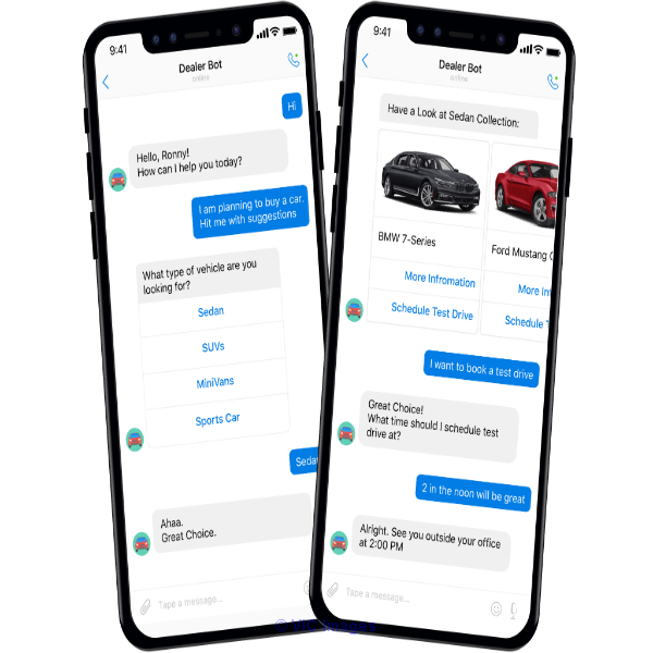 Develop a Chatbot for an Auto Dealer Company calgary