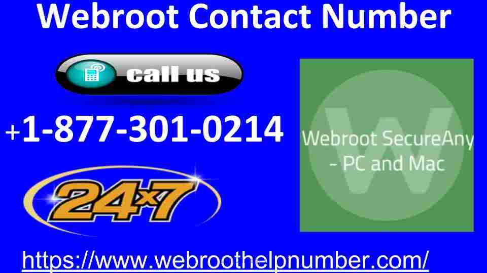 Webroot Contact Number For USA  +1-877-301-0214 calgary