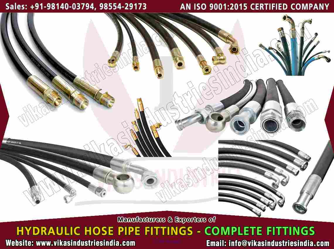 hydraulic hose pipe end fittings manufacturers suppliers in india punj