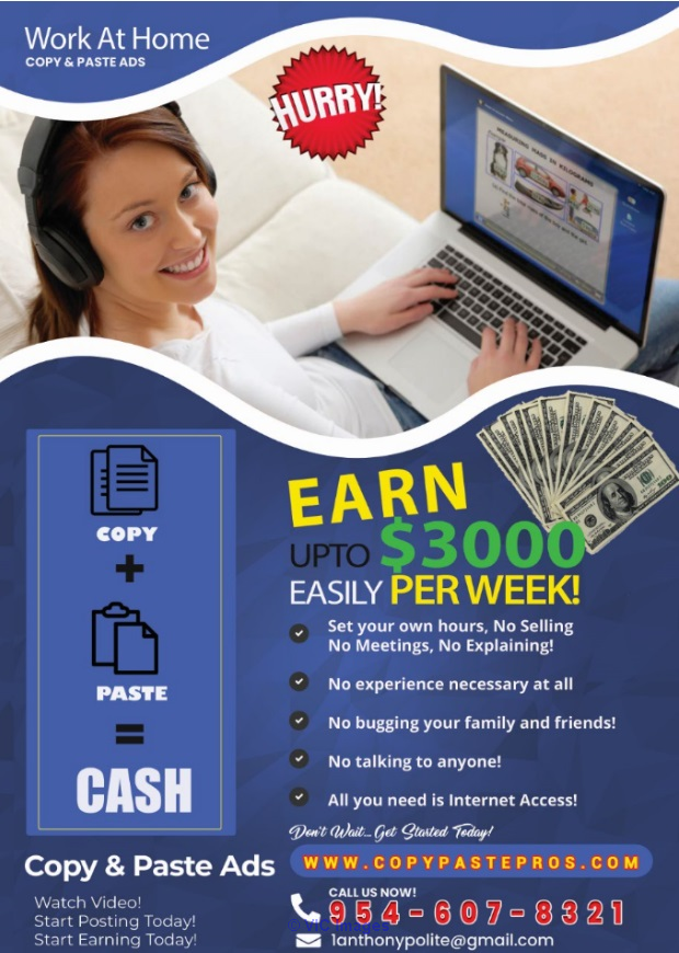 Earn up to $3,000 easily per week. No BS 100% REAL! Calgary, Alberta, Canada Classifieds