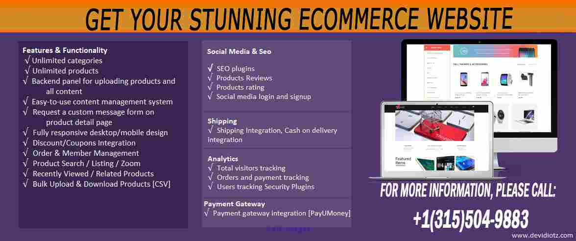 Get Your Stunning eCommerce Website calgary