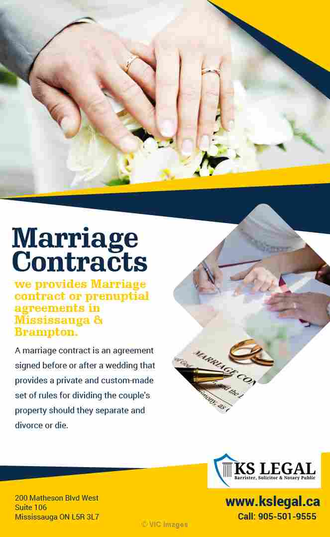 Marriage Contracts in Mississauga calgary