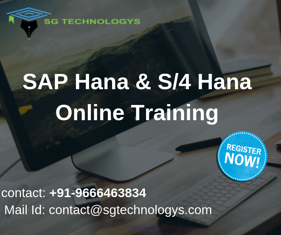 SAP Hana And S4 Hana Online Training | SG Technology calgary