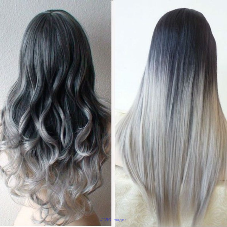 Silver Hair Extensions calgary