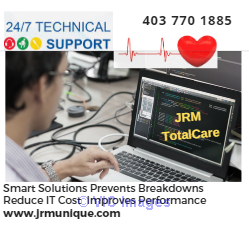 Trusted JRM Tech Support and Warranty on high quality used Laptops and Calgary, Alberta, Canada Classifieds
