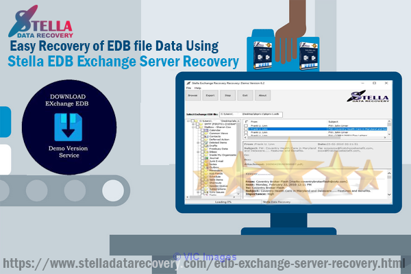 Easy Recovery of EDB file Data Using Stella EDB Exchange Server Recove Calgary, Alberta, Canada Annonces Classées