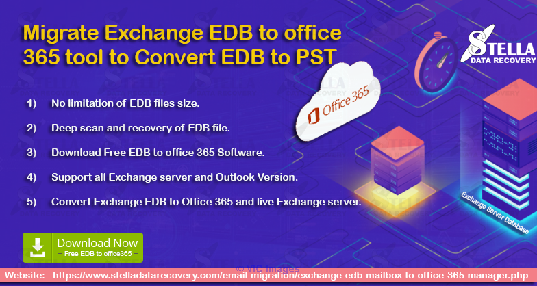 Migrate Exchange EDB to office 365 tool to Convert EDB to PST