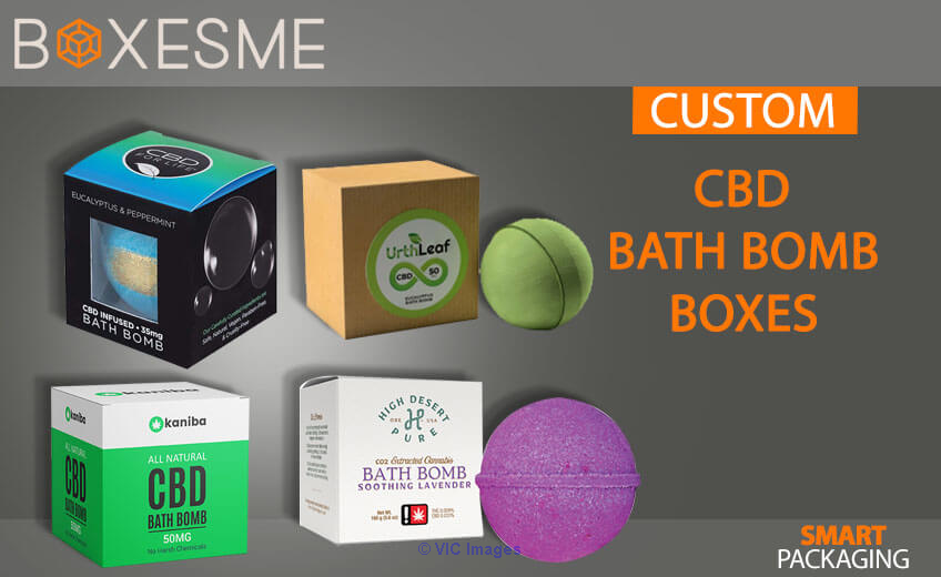 Get Amazing Designs of CBD Bath Bomb Boxes From us