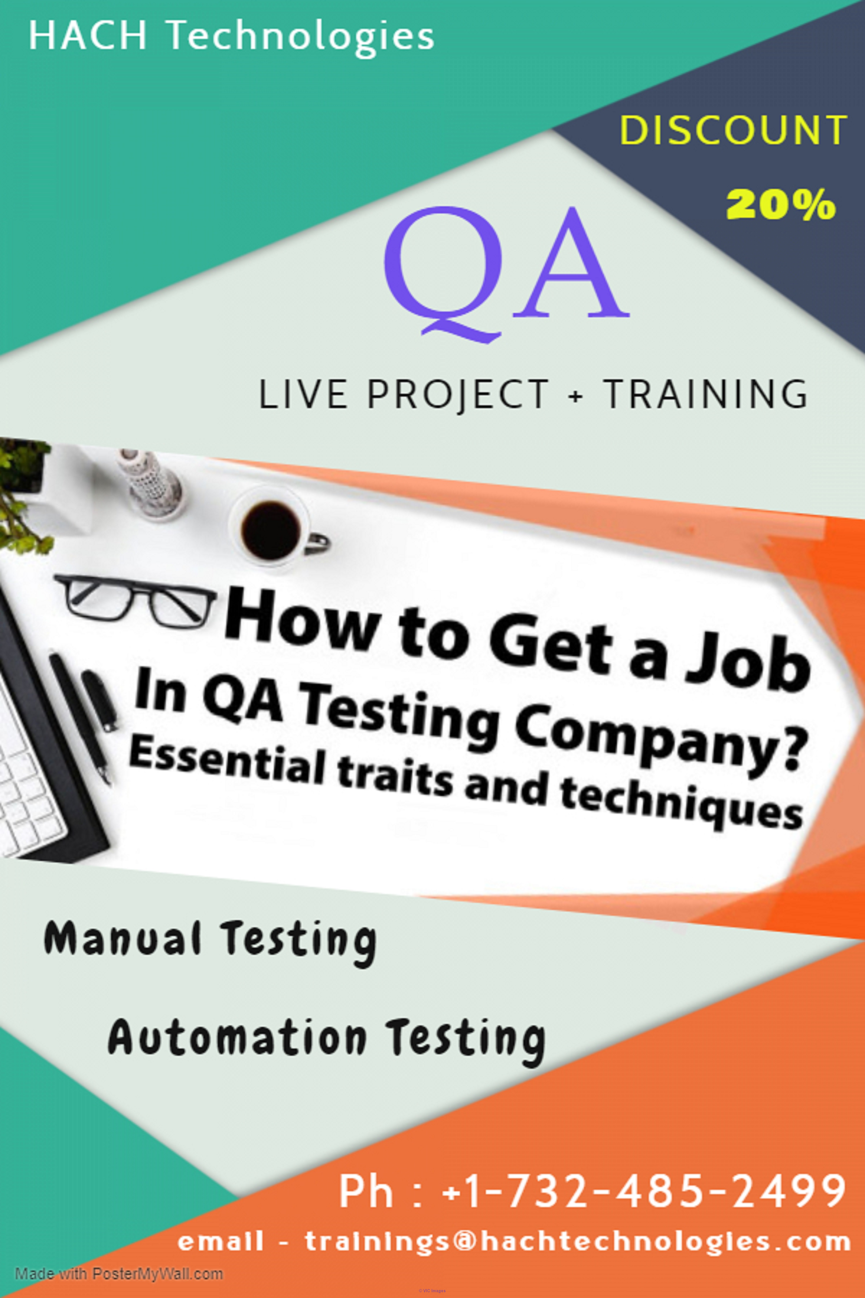 QA Manual Testing + Automation Testing + LIVE project Training in USA