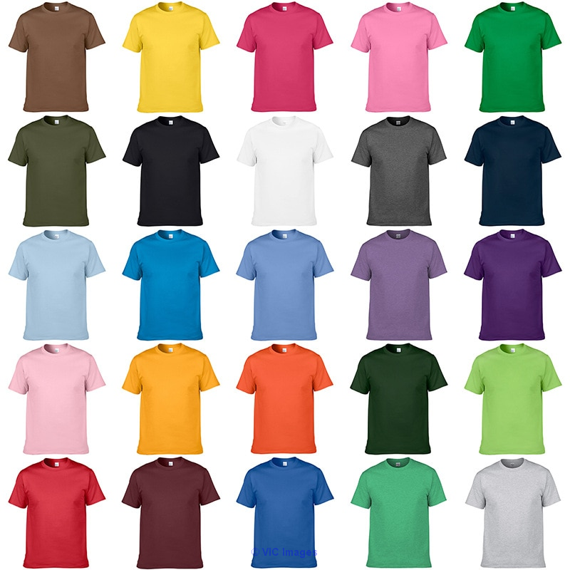 New Men`s Basic Plain Tee T-Shirt Crew Neck Shirt Solid Colors calgary